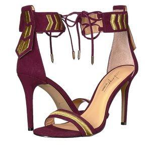 Daya by Zendaya Nola Wine Heeled Sandals Size 8
